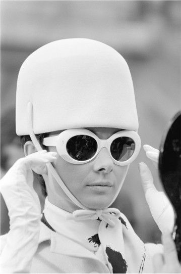 Audrey Hepburn photographed by Terry O'Neill during the filming of How to Steal a Million (1966). Wardrobe by Givenchy.