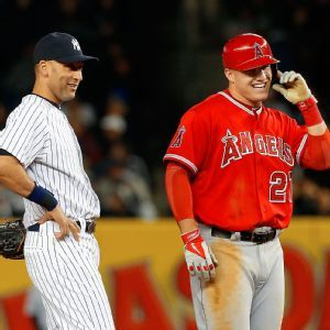 Mike Trout and Derek Jeter ......     Mike Trout's All-Star coronation by Jayson Stark ESPN
