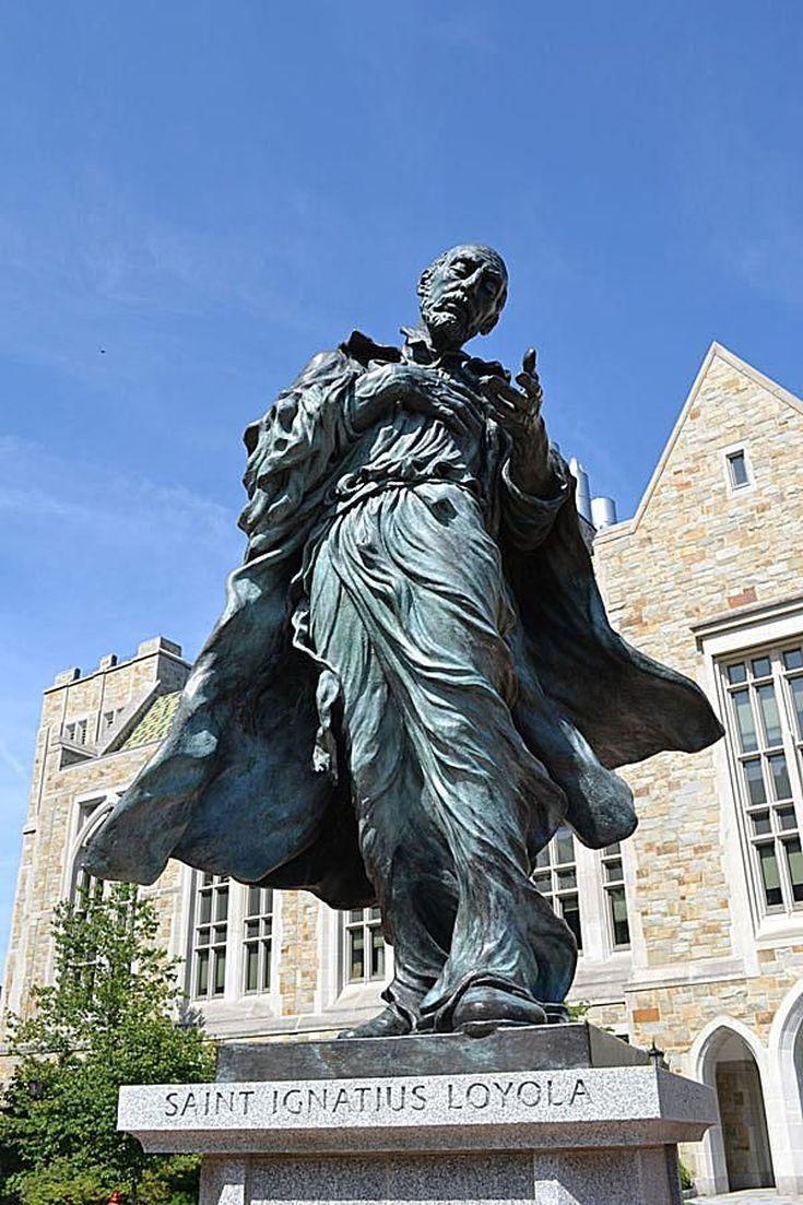Explore the Boston College Campus in This Photo Tour: St. Ignatius Statue at Boston College