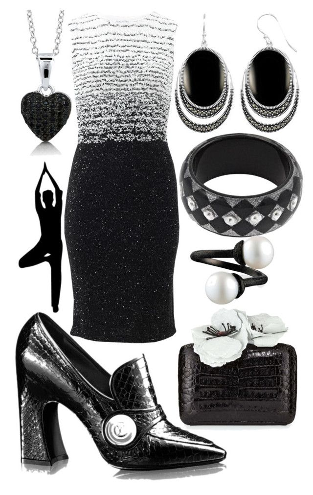"""Black Knight"" by rellenj ❤ liked on Polyvore featuring Oscar de la Renta, Nancy Gonzalez and BERRICLE"