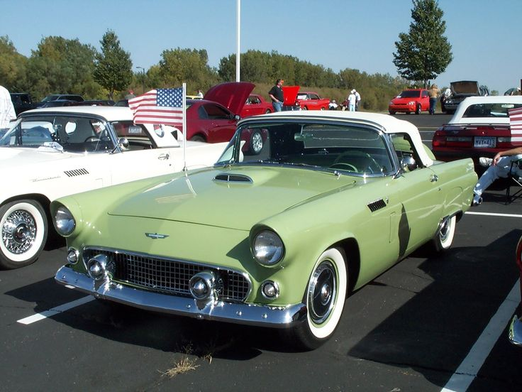 1956 Ford Thunderbird at classic car show-SR