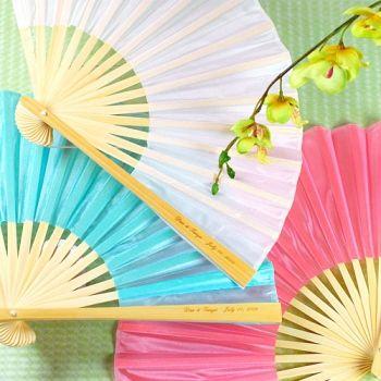 summer wedding favors - elegant paper fan