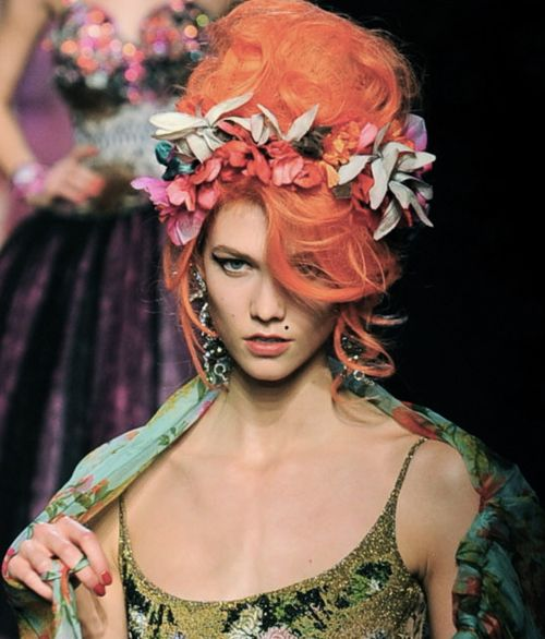 """Karlie Kloss for Jean Paul Gaultier Haute Couture    lolol the same exact picture i edited right after the JPG show pictures went up  busted """"skinnyandtallmodels""""  http://sfilate.tumblr.com/post/16474458854/karlie-kloss-at-jean-paul-gaultier-s-s-2012-haute"""