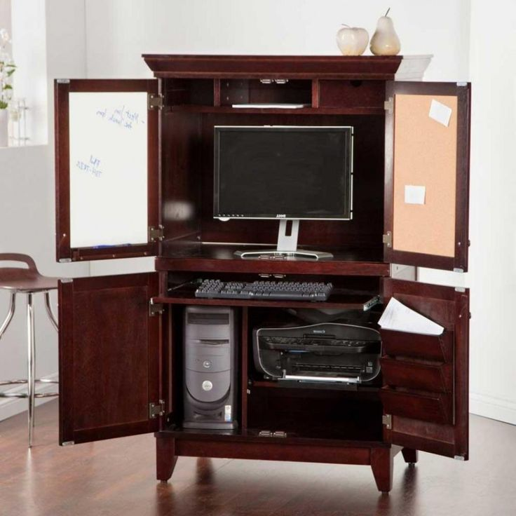 Cool Home Office Desk Design With Twin Rectangle Sides As Announcement And  Wooden Laminate Floor Including