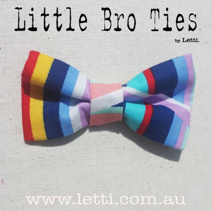 * Little Bro Tie * Check out Letti's Super Suave 'Mr Stripes' Get your Magnetic Bow tie for only $12 FREE p&h Head over to www.letti.com.au