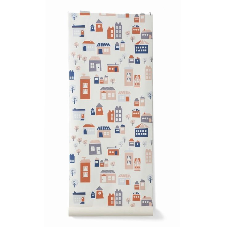 the village wallpaper from ferm living