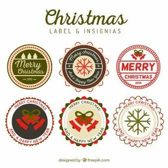 Round christmas insignias