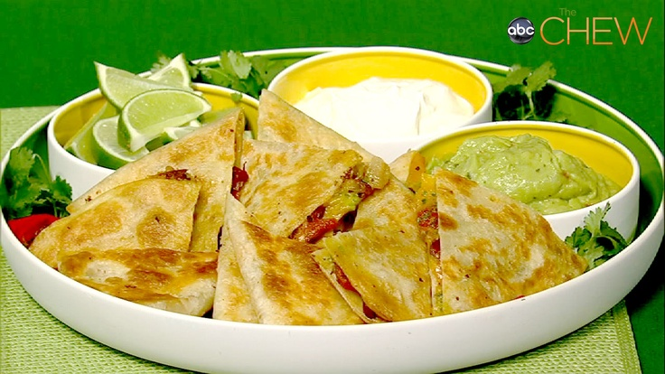 Carla Hall's Chili Cheese Quesadilla recipe. thechew