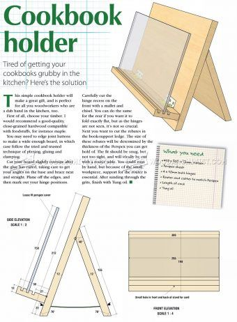 #1500 Cookbook Holder Plans - Other Woodworking Plans and Projects