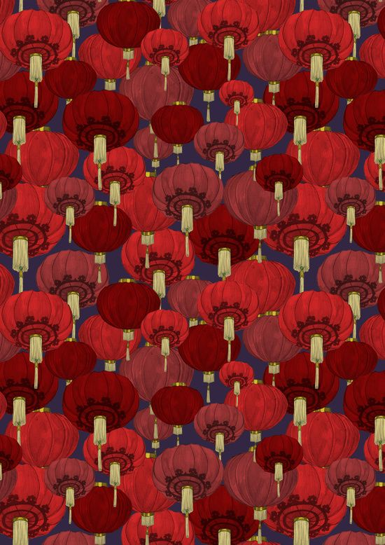 Chinese Lanterns by Deborah Ballinger Illustration | Society6