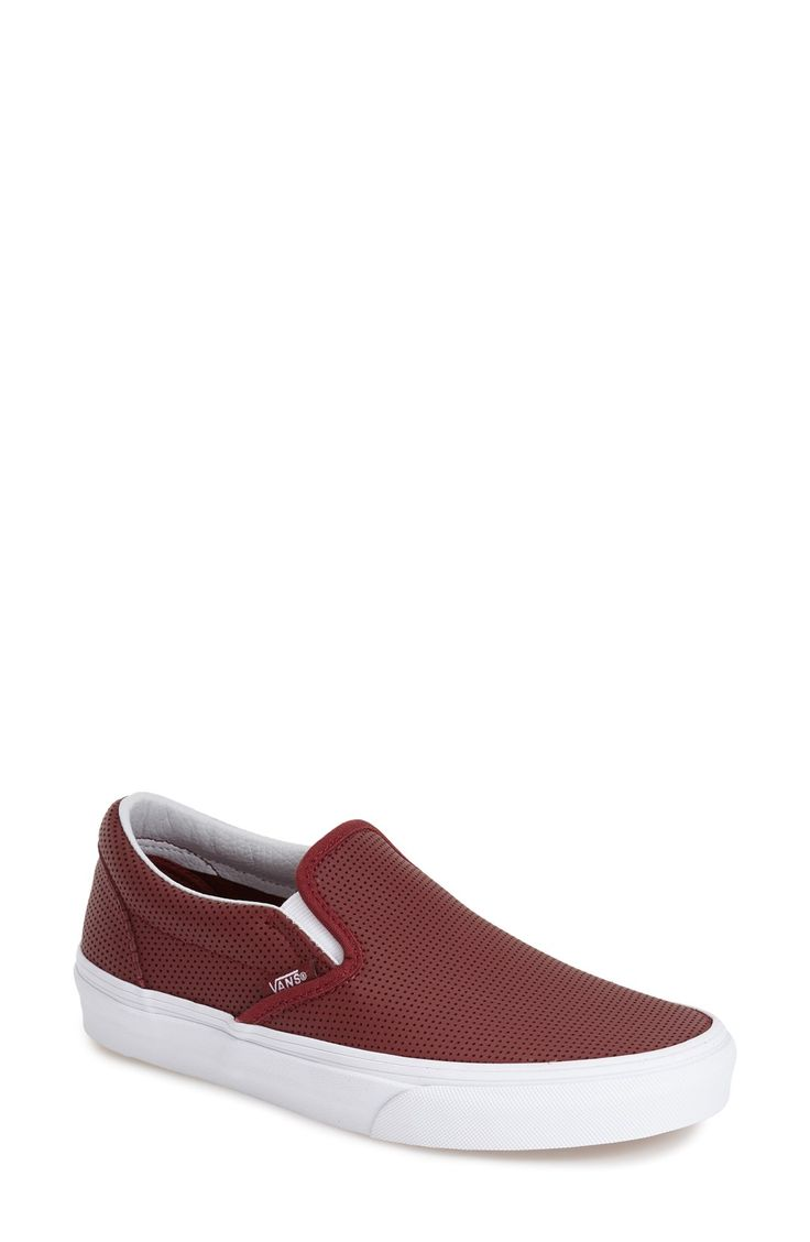 Vans 'Classic' Perforated Slip-On Sneaker (Women)