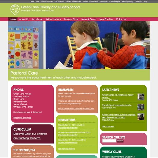 The reworked Green Lane which works seamlessly on mobile, tablet and desktop.  www.glpns.org.uk