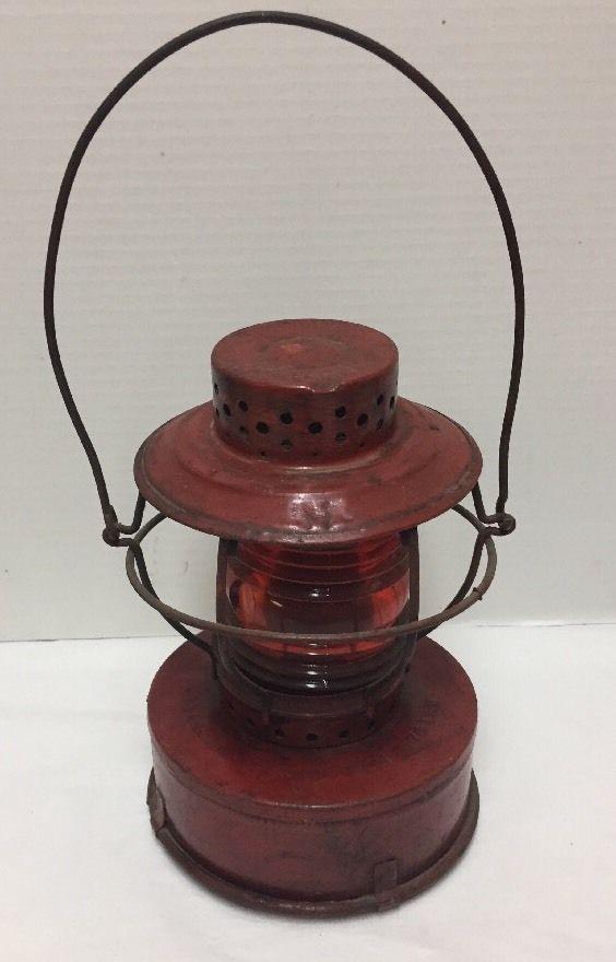 Vintage Handlan Lantern Consolidated Edison System Red