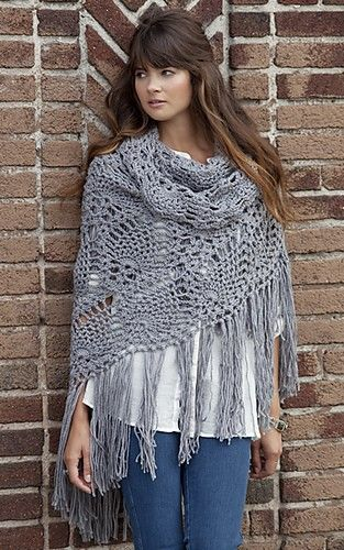 """This shawl is a real work of art! Truly amazing piece! The Sidewalk Shawl by Kimberly K. McAlindinmay look intimidating; in fact the pattern turns out to be easy and enjoyable. The beauty of having a shawl is that can be worn all year round. ————————– Shawl measures 77"""" wide (across top edge) x 34"""" …"""