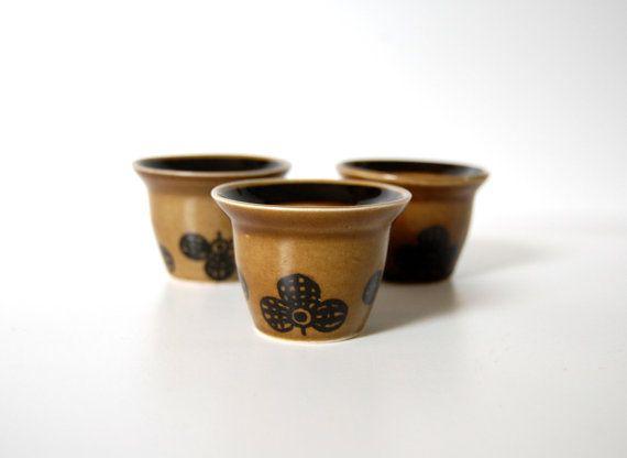 Stavangerflint Egg Cups Sera Norway 222 Brown by TheRecycleista