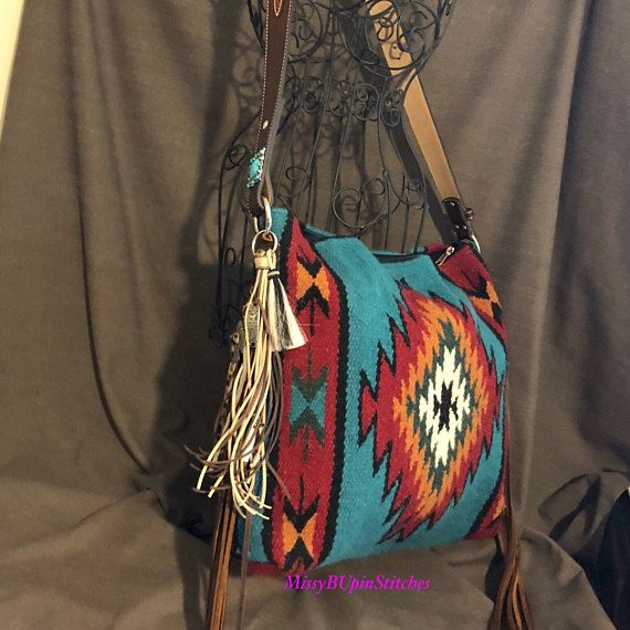 Saddle Purse with Turquoise