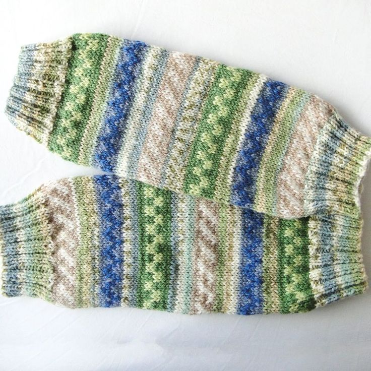 WOMEN S HANDMADE WOOL MIX FAIRISLE LEG WARMERS DESIGNER LEGGINGS BLUES CREAMS