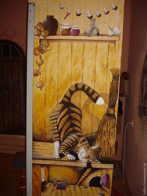 Купить роспись холодильника - роспись холодильника, холодильник, роспись стен, роспись бытовой техники