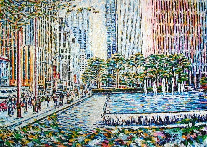 "Maurizio Carpanelli :: Web Art Gallery  ""Manhattan"" #oliosutela #America"