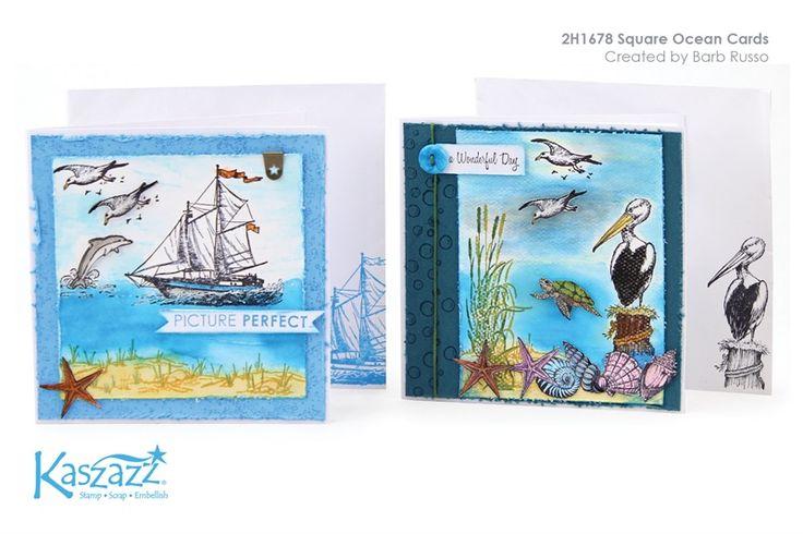 2H1678 Square Ocean Cards
