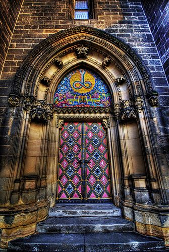 Vysehrad Castle Door , Prague  ♥ ♥ www.paintingyouwithwords.com