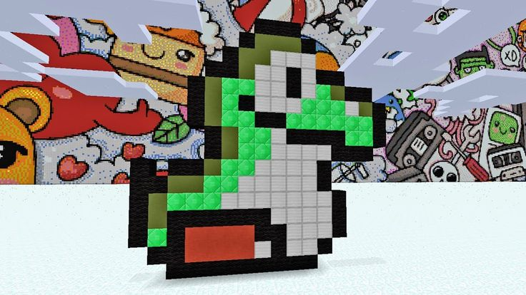Minecraft Pixel Art - How To Make Little Yoshi