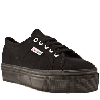 Women's Black Superga 2790 Flatform at Schuh...going to order these now...