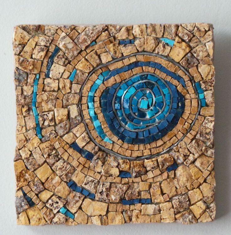 Mosaico piedra y venecitas