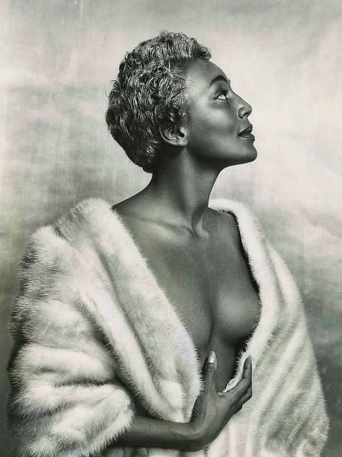 """Joyce """"The Bronze Bombshell"""" Bryant, NYC, 1954 by Philippe Halsman. She would become the first dark-skinned African-American woman celebrated by the mass media as a 'sex-symbol'."""
