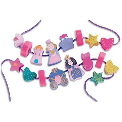 BrightMinds princess wooden bead set