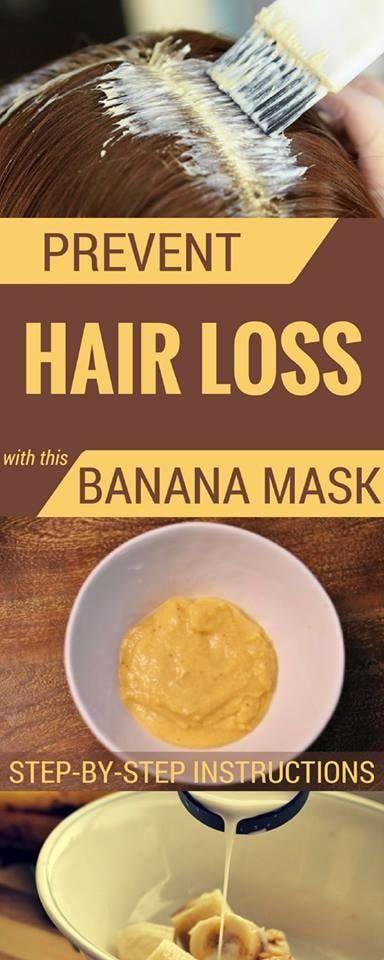 #hair #loss #banana #mask #remedy #natural #recipe
