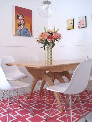 IKEA Hackers: Mod pink geometric painted erslev rug