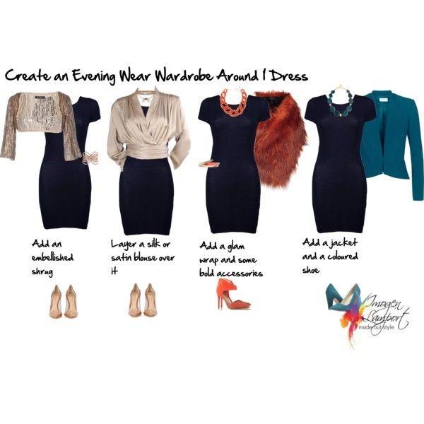 Creating an evening wear wardrobe around one dress