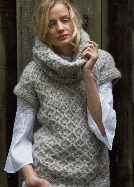 Women S Hand Knit Cowl Neck Sweater 65h Knit Basket Rowan