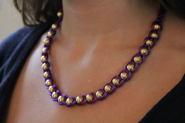 Easy DIY necklace or bracelet- a color for every outfit?