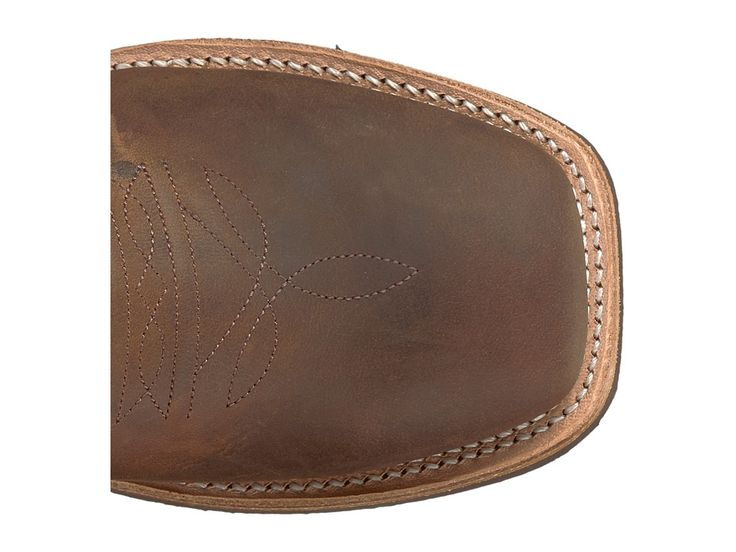 Old West Kids Boots Broad Square Toe Crepe (Big Kid) Cowboy Boots Brown