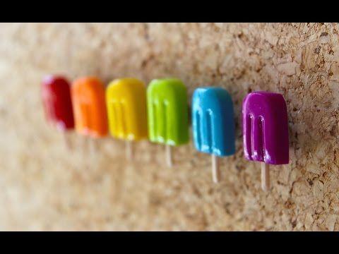 DIY Polymer Clay Popsicle Thumbtacks Tutorial