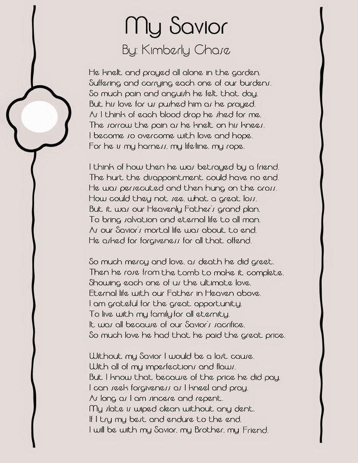 Easter Poem: My Savior