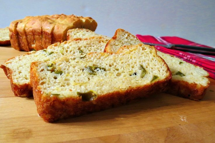 Jalapeno Cheese Bread - A moist yogurt based quick bread full of jalapenos and cheese.