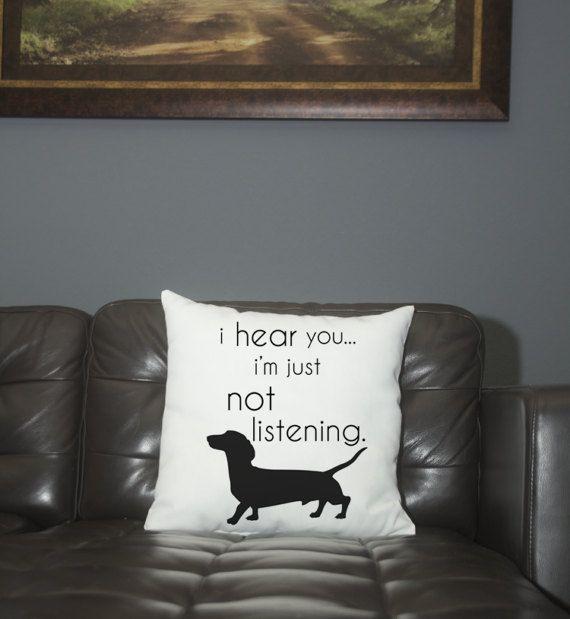 Pillow- Dachshund- not listening