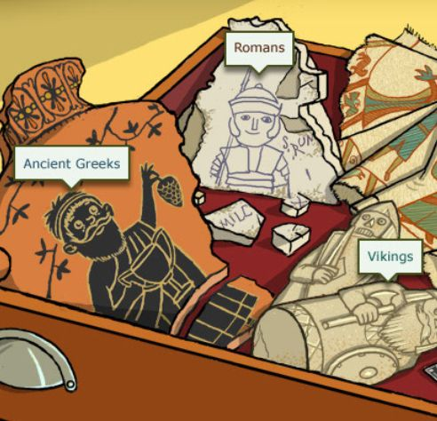 BBC Interactive History Website for Kids- LOVE this! just checked out the greek part. has interactive activities for the students.  Would work well for a search and find vocabulary project. (mythological vocabulary is a 4th grade standard in georgia)