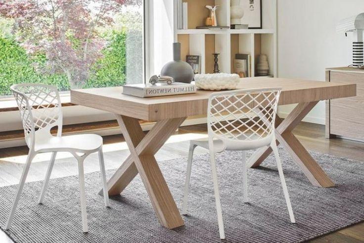 Table repas extensible TWO 180x100 de CALLIGARIS en bois naturel