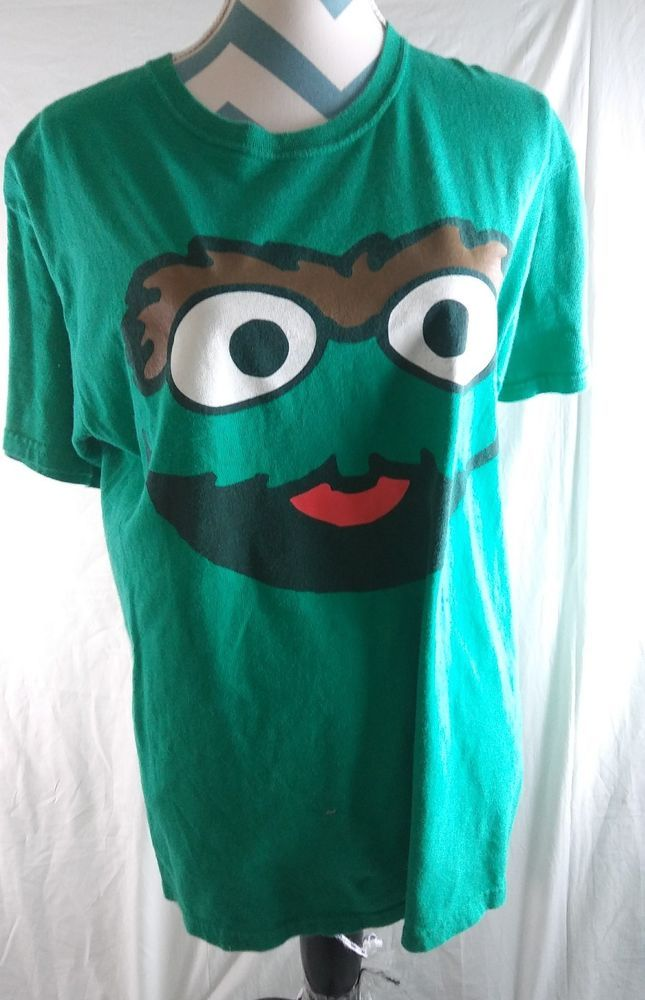 Sesame Street Oscar The Grouch Green T Shirt Tee Size Large | Clothing, Shoes & Accessories, Unisex Clothing, Shoes & Accs, Unisex Adult Clothing | eBay!