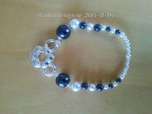 Swarovski and silver bracelet