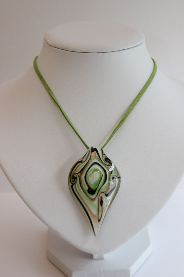 Chic leaf pendant on leafy green suedette necklace. Free delivery in Australia by 4Dignity on Etsy