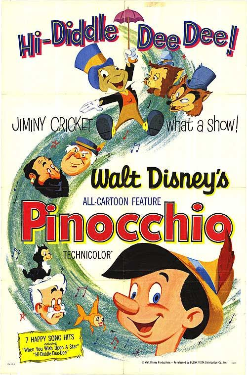 Pinocchio. Vintage Poster. 30Day Disney Challenge Day 17 least favorite classic