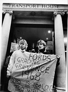 Protesters from the Ford Dagenham plant 1968