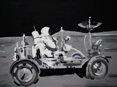"Saatchi Art Artist Wojtek Bąbski; Painting, ""Moon Ride"" #art"