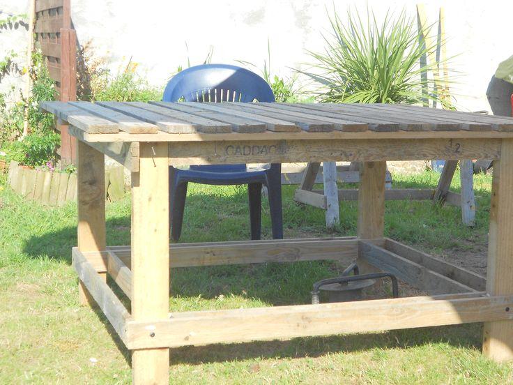 Table de jardin en palettes de récup Instructions...  Palette&co ...