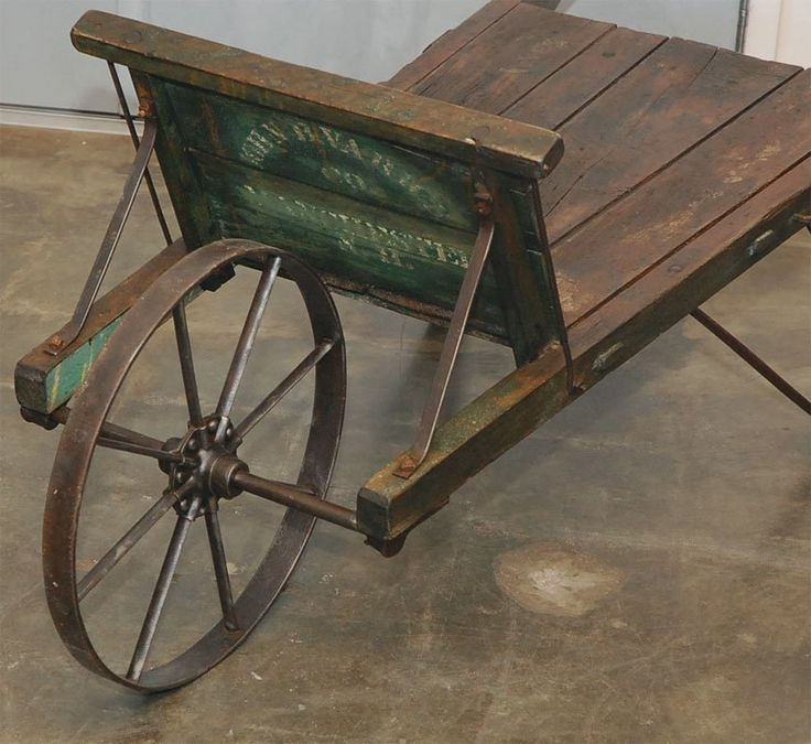 New England Painted Wheelbarrow | From a unique collection of antique and modern garden ornaments at https://www.1stdibs.com/furniture/building-garden/garden-ornaments/